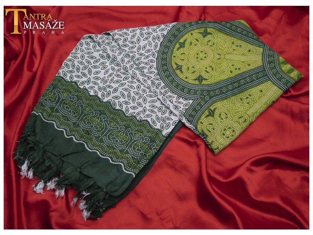 sarong flower zelený 01