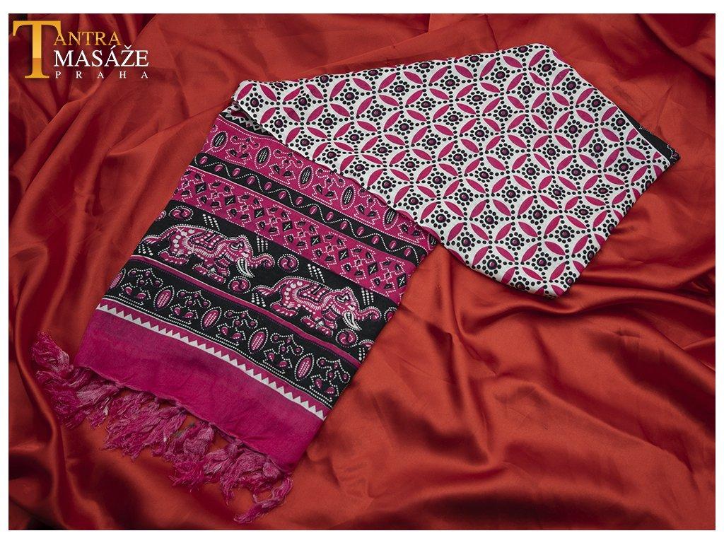 sarong mandala černorůžový 01