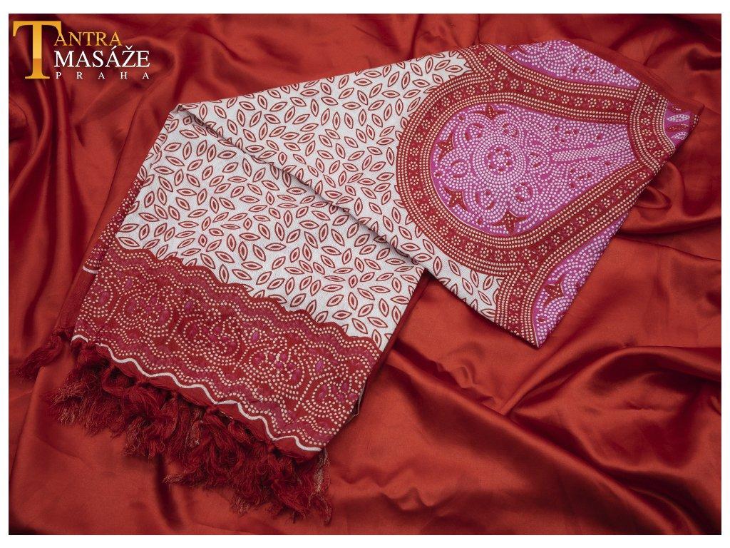 sarong flower růžový 01