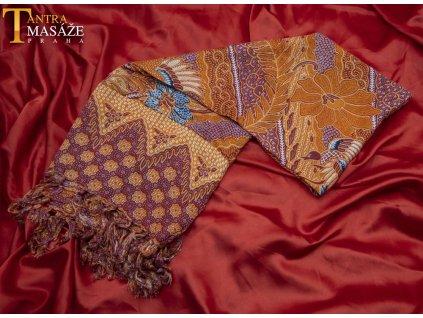 sarong peacock oranžový 01
