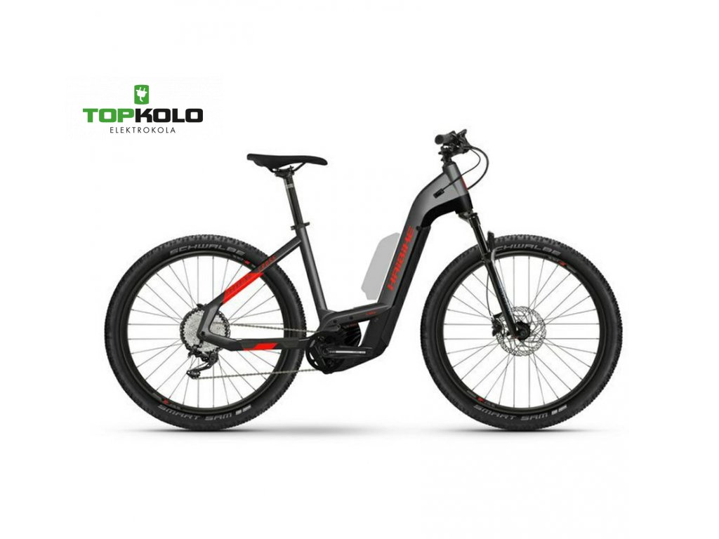 Haibike Trekking Cross 9 2021 lowstep anthrasite red (2)a