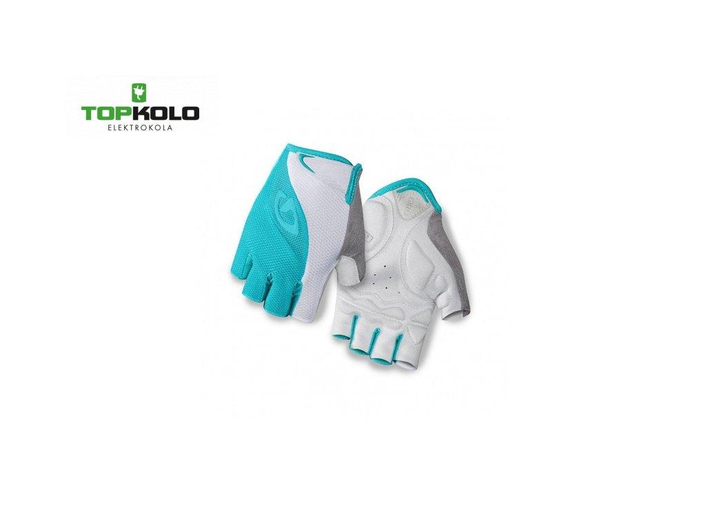 damske rukavice giro tessa turquoise white
