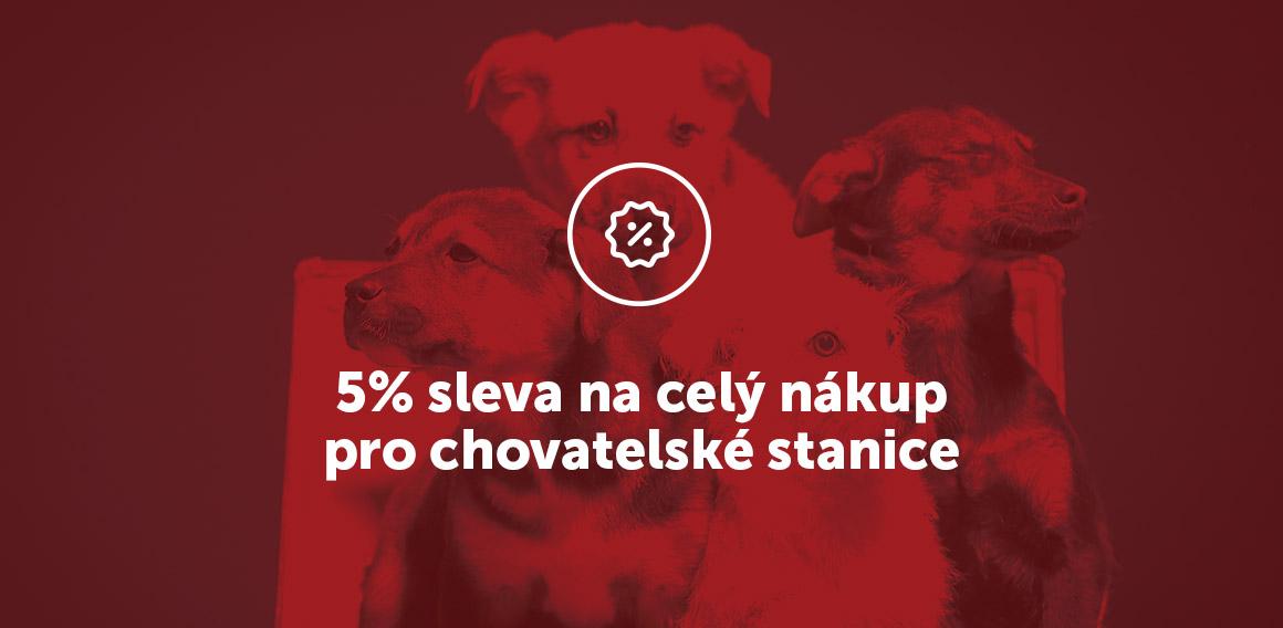 chovatelské stanice, sleva 5%