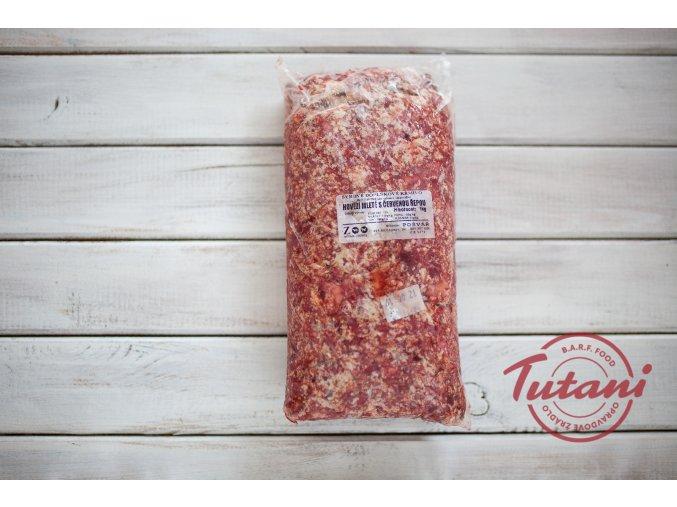 Hovězí mleté s červenou řepou 1kg