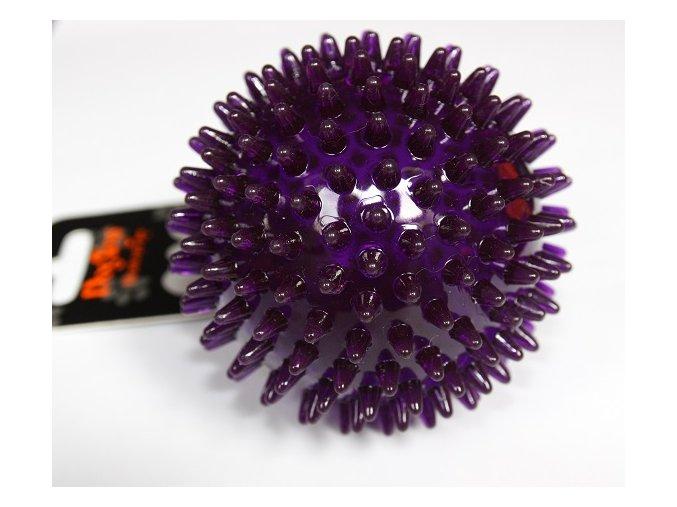 Míček s bodlinkami nepískací fialový TPR