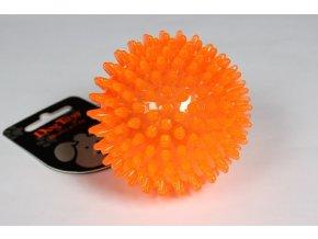 Míček s bodlinkami nepískací oranžový TPR