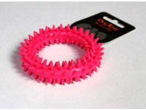 Kroužek dentální růžový TPR 9x9x2.2cm