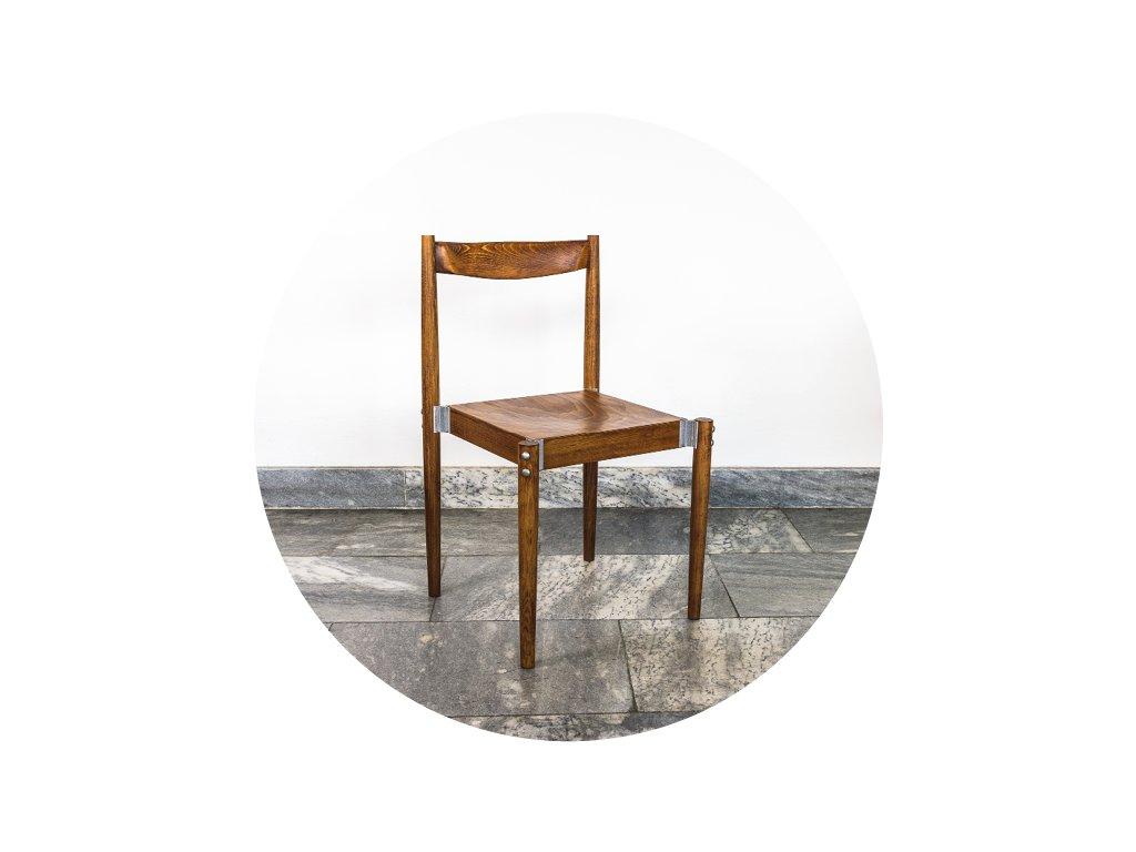 Miroslav Navrátil židle dřevěná