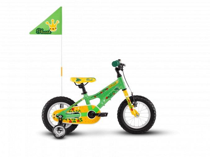 GHOST Powerkid 12 - Green / Yellow 2021 (Velikost 12)