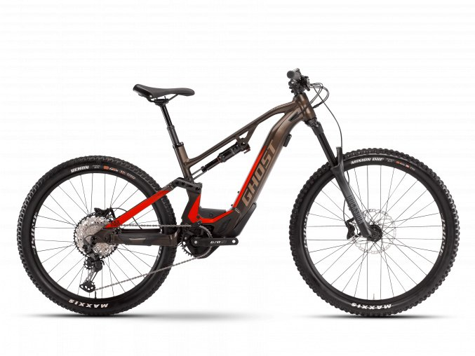 GHOST E-bikes ASX Essential 160 B625 - Chocolate Brown / Riot Red 2021 (Velikost XL (185-200cm))