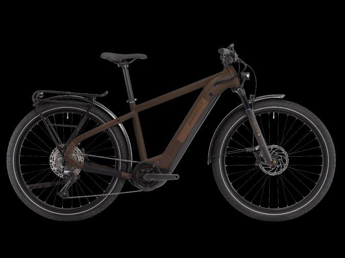 GHOST E-bikes E-Square Trekking Advanced Y630 - Chocolate / Gold 2021 (Velikost XL (185-200cm))