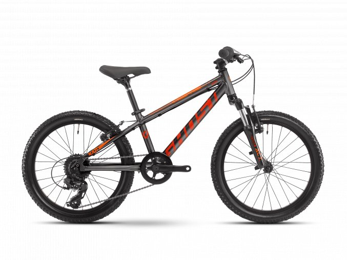 GHOST Kato Essential 20 - Dark Silver / Red / Orange 2021 (Velikost 20)