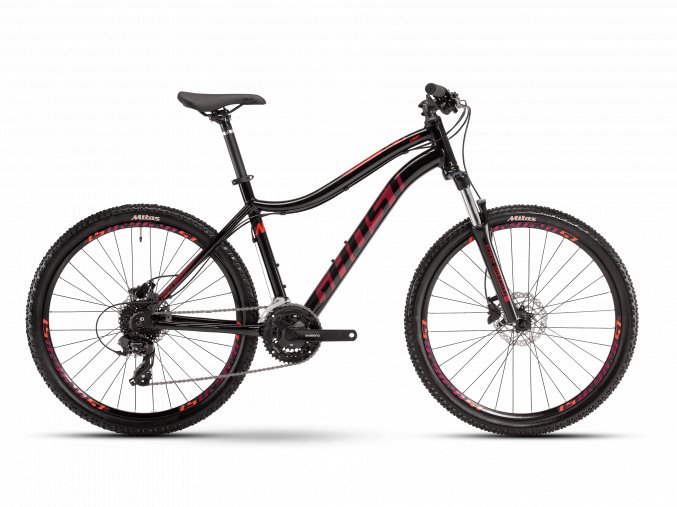 GHOST Lanao Base 26 - Midnight Black / Electric Purple / Red 2021 (Velikost L (175-190cm))