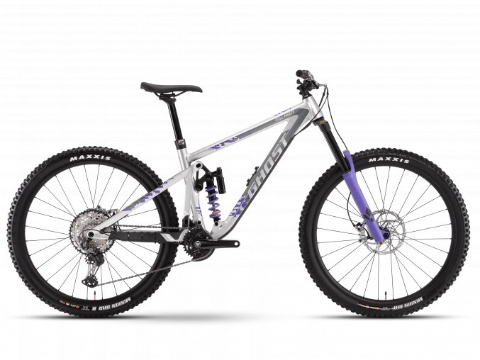 GHOST Riot Enduro Full Party - Silver / Electric Purple 2021 (Velikost XL (188-196cm))