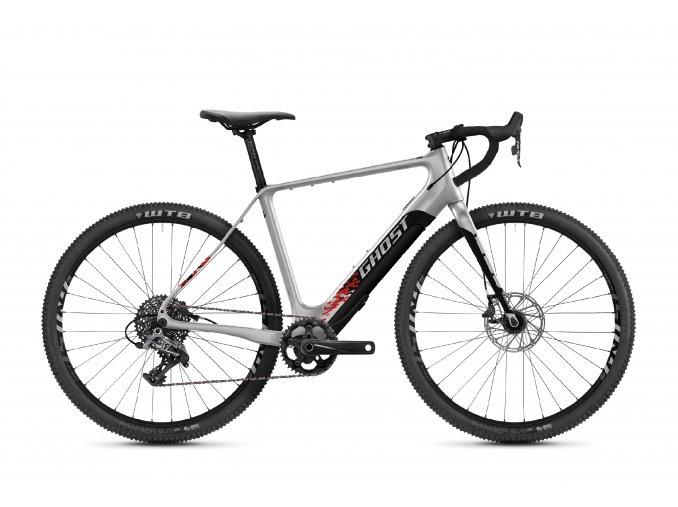 GHOST E-bikes E-Road Rage Fire 29 LC F250 - Iridium Silver / Jet Black / Red 2021 (Velikost L (175-190cm))