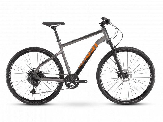 GHOST Square Cross Essential - Dark Silver / Midnight Black / Lava Orange 2021 (Velikost XL (185-200cm))