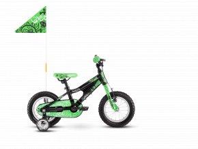GHOST Powerkid 12 - Black / Green 2021 (Velikost 12)
