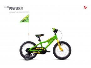 GHOST Powerkid 16 - Green / Yellow 2021 (Velikost 16)