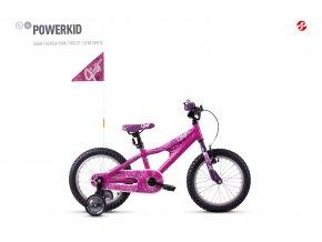 GHOST Powerkid 16 - Pink / Violet 2021 (Velikost 16)