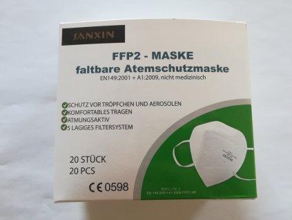 Respirátory FFP2 bílé 20KS (11 Kč/ks)