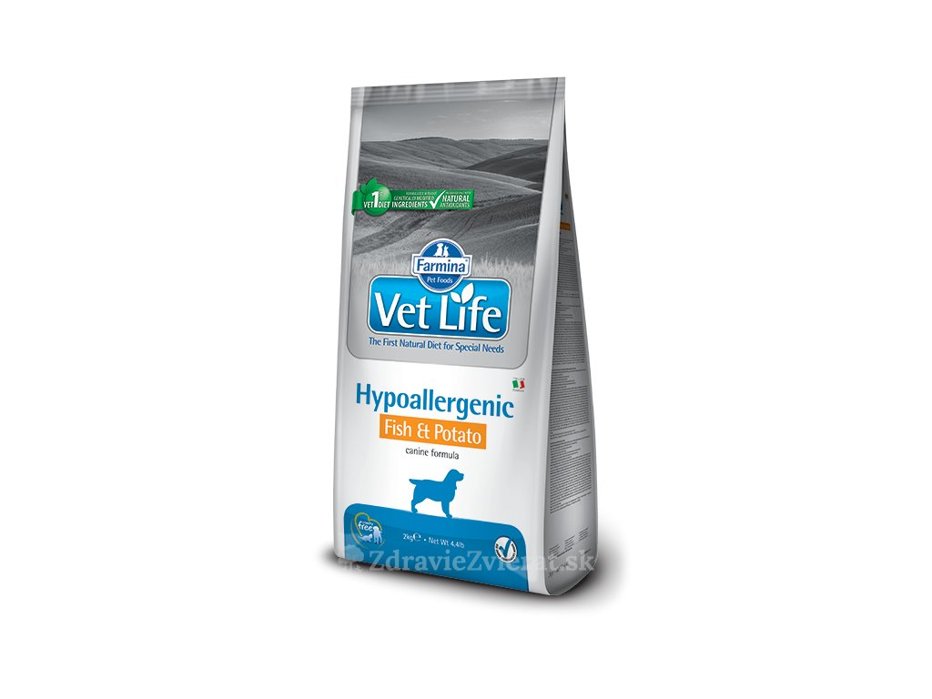 farmina vet life dog hypoallergenic fish potato 2 kg