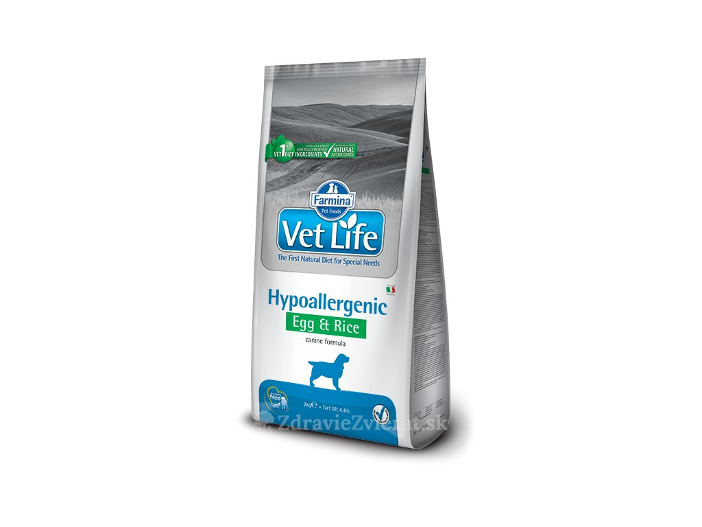 farmina vet life dog hypoallergenic egg rice 2 kg