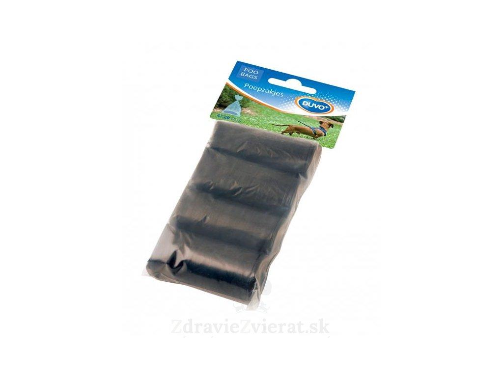 sacky duvo na zber psich vykalov cierne 4 x 20 ks