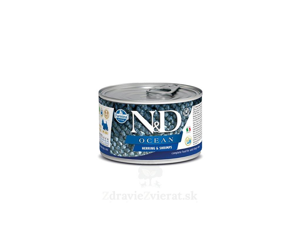 nd ocean canine 140g herring shrimps