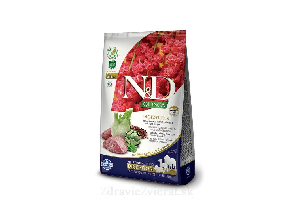 farmina n d gf quinoa digestion lamb 0 8 kg