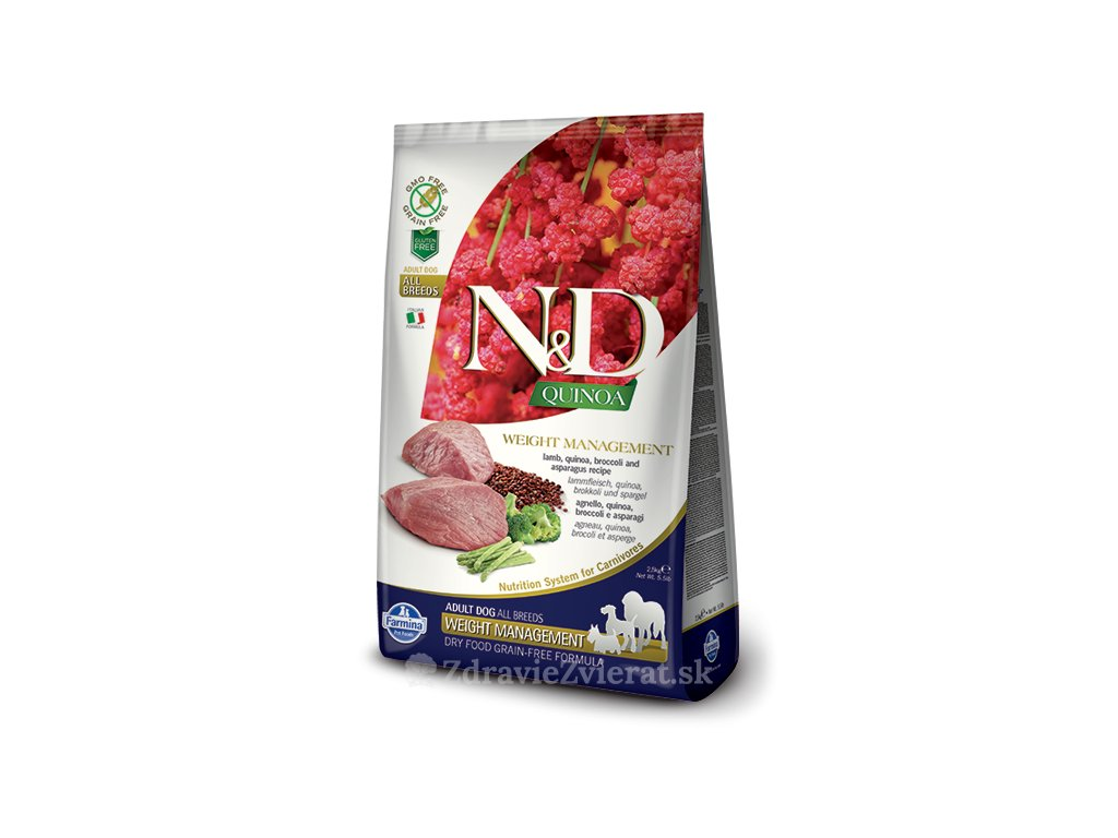 farmina n d gf quinoa weight managment lamb