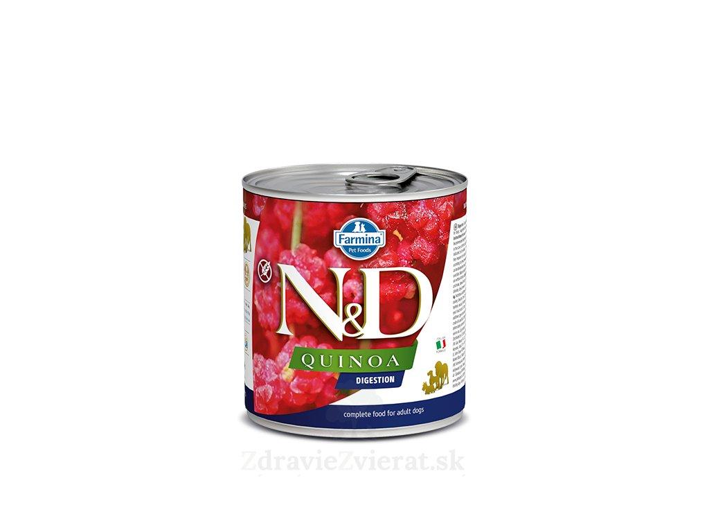 farmina n d dog quinoa digestion konzerva 285 g