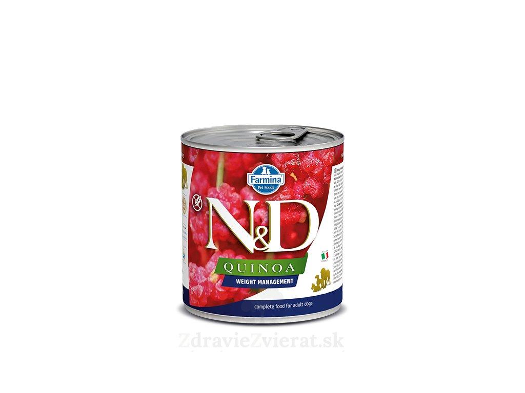 farmina n d dog quinoa weight management konzerva 285 g