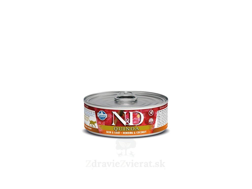 farmina n d cat quinoa herring coconut konzerva 80 g