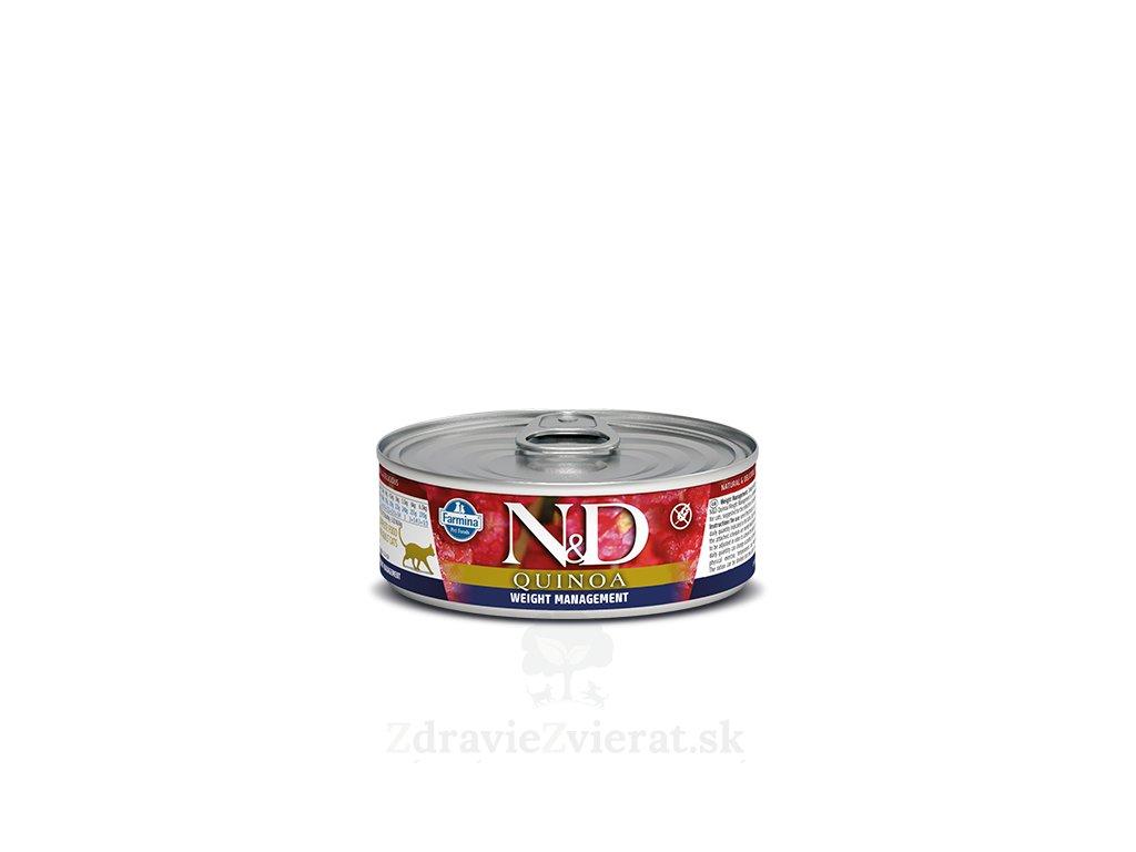 farmina n d cat quinoa weight managment konzerva 80 g