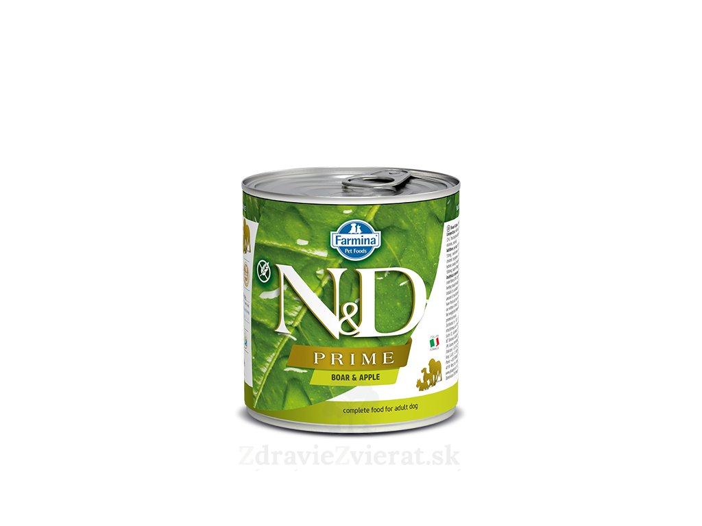 farmina n d dog prime boar apple konzerva 285