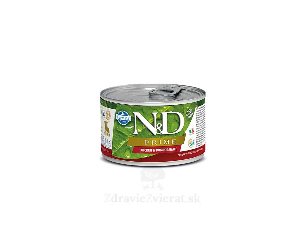farmina n d dog prime chicken pomegranate puppy konzerva 140 g
