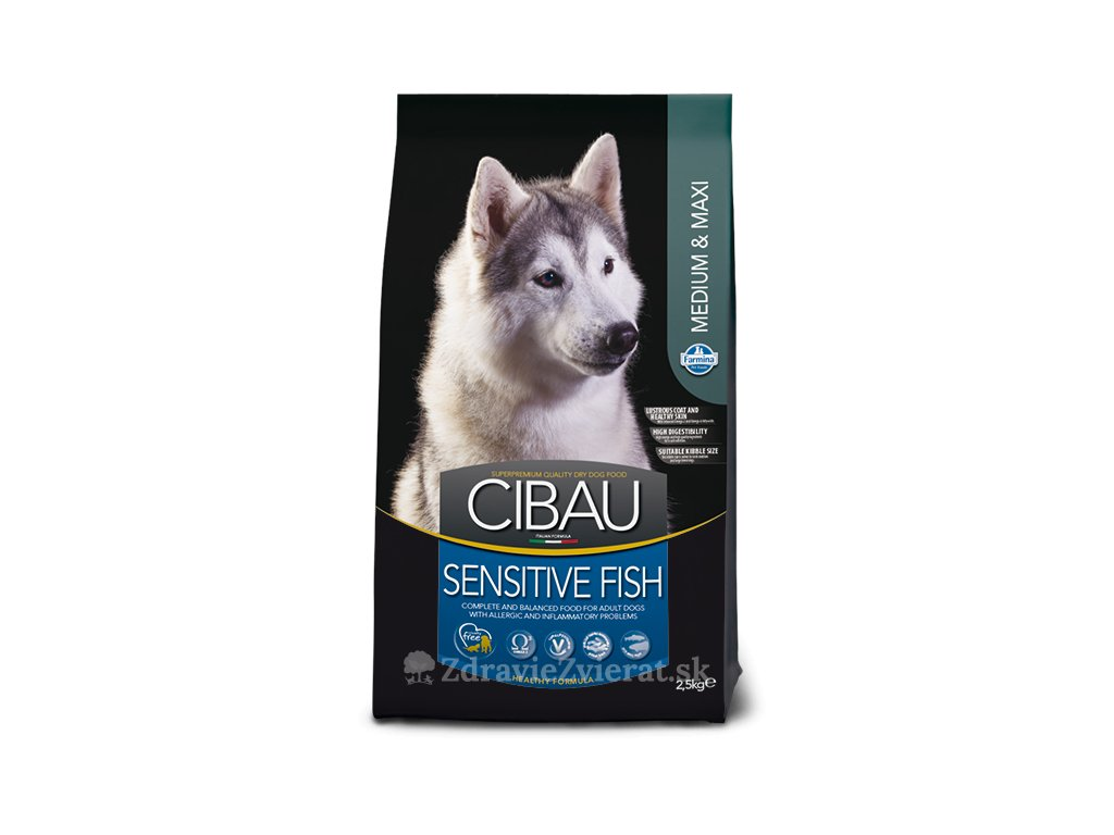 farmina cibau dog adult sensitive fish medium maxi