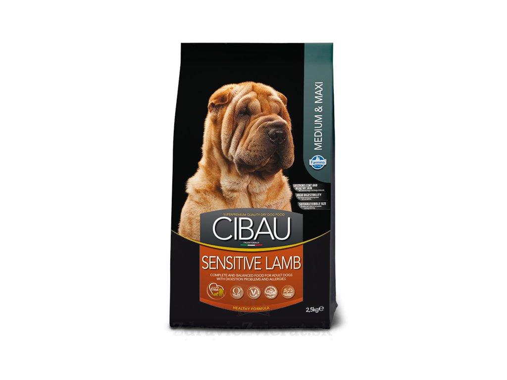 farmina cibau dog adult sensitive lamb medium maxi