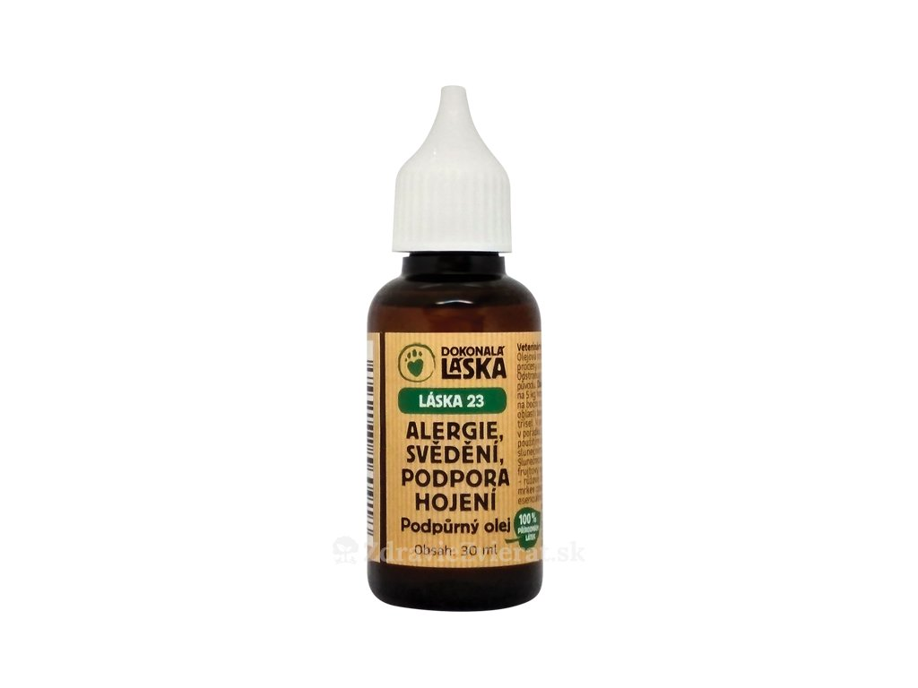 dokonala laska alergia hojenie svrbenie podporny olej