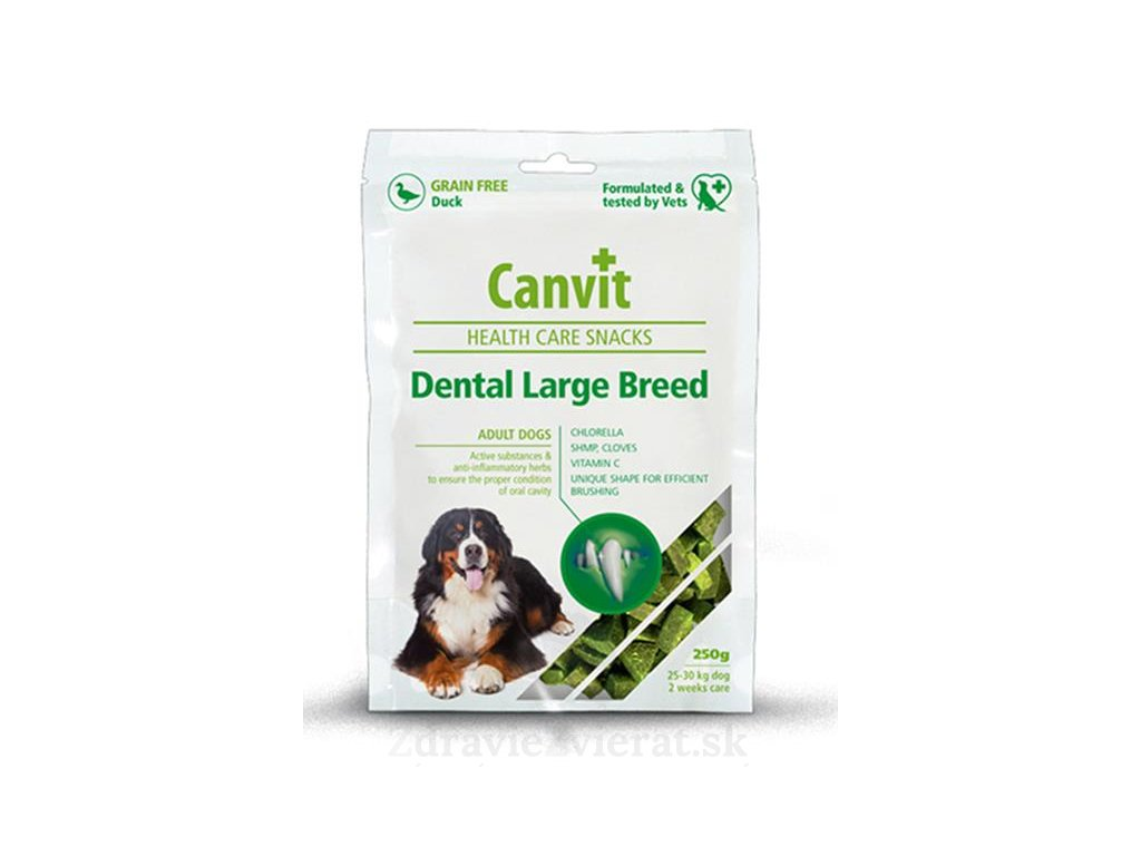canvit health care dog dental snack large breed 250 g