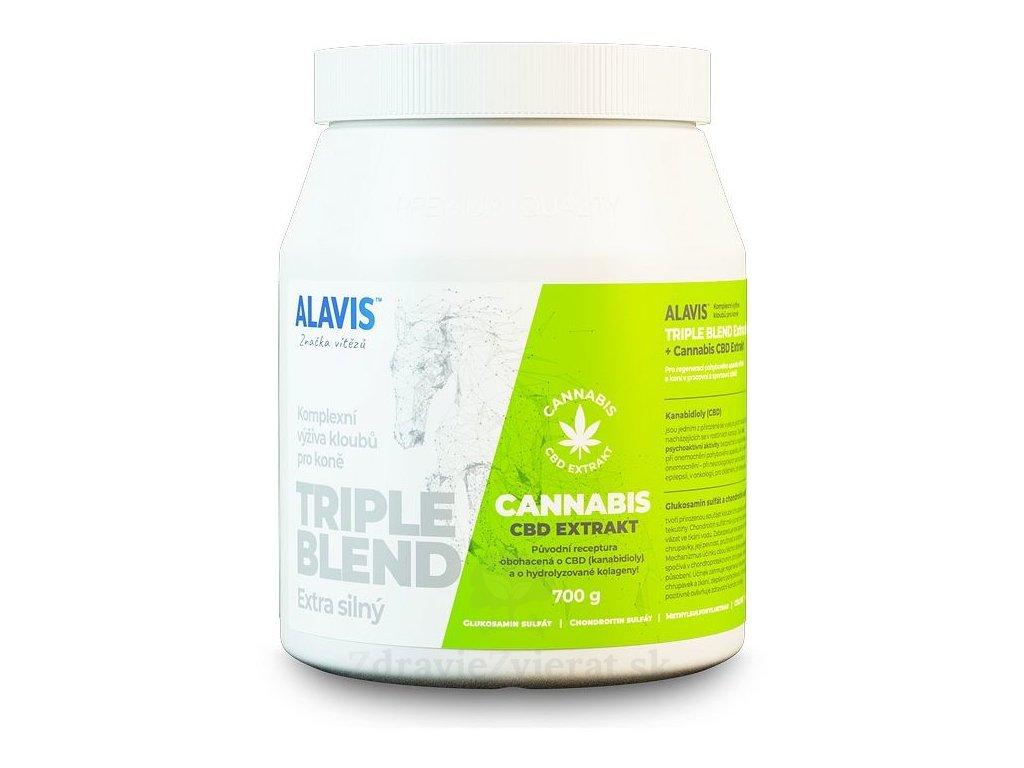 alavis triple blend extra silny cannabis cbd extrakt pre kone plv 700 g