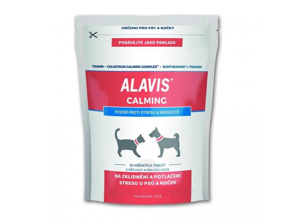 alavis calming pre psov a macky 45 g 30 zuvacich tabliet