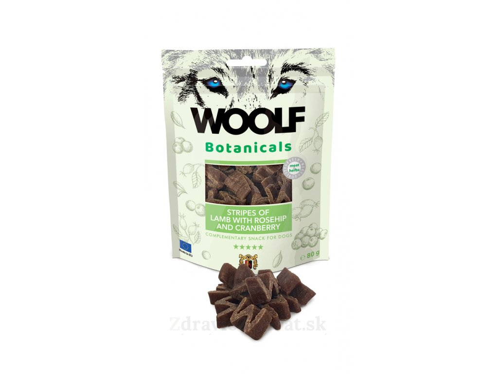 woolf dog botanicals lamb stripes with rosehip and cranberry 80 g