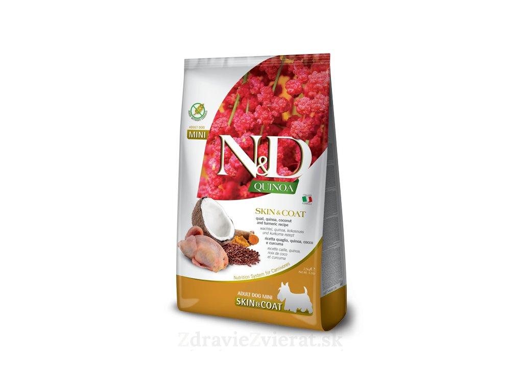 farmina n d dog quinoa gf adult mini skin coat quail coconut 2 5 kg