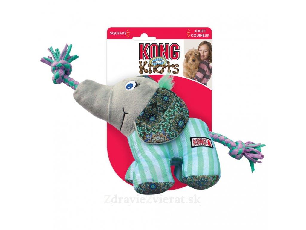 kong knots carnival elephant m l 42 cm