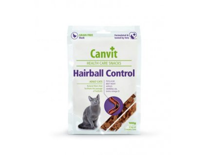 canvit health care cat hairball control snack 100 g