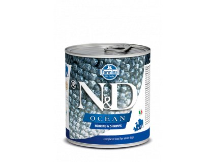 farmina n d dog ocean herring shrimps konzerva 285 g