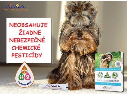 arava bylinne antiparazitne pipety proti blcham a kliestom pre psov 0 9
