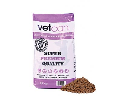 vetcan adult lamb rice small breed 3 kg
