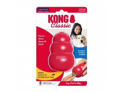 hracka kong guma classic granat cerveny l.1